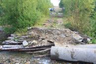 1. Разрушенный мост через Жигалан.