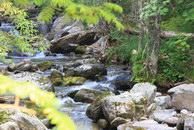 2. Как только сквозь просветы в деревьях появился Жигалан, я начал снимать.