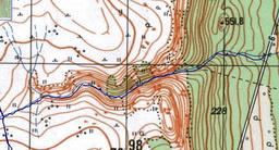 12. Фрагмент карты – участок от дороги вдоль Жигалана до плато.