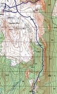 37. Фрагмент карты – переход от первой стоянки под вершину 841,0.