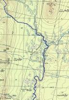 88. Фрагмент карты – спуск до Тыпыла и начало сплава.